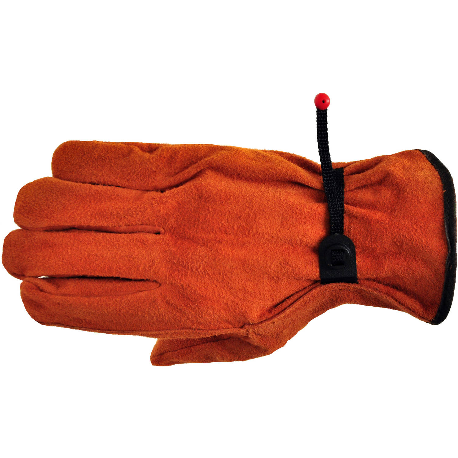 G & F Split Cowhide Leather Gloves with Ball and Tape, Straight Thumb, Large, 3 Pairs