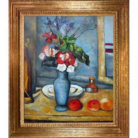 La Pastiche Paul Cezanne Le Vase Bleu Hand Painted Framed Canvas