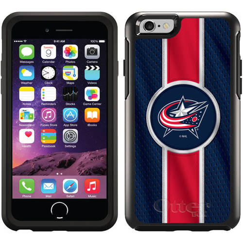 Columbus Blue Jackets Jersey Stripe Design on OtterBox Symmetry Series Case for Apple iPhone 6