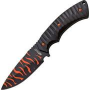 "Mtech MT2064BO Fixed Knife Black/Orange Camo 4.25"" Drop Blade/Blk Nylon Handle"