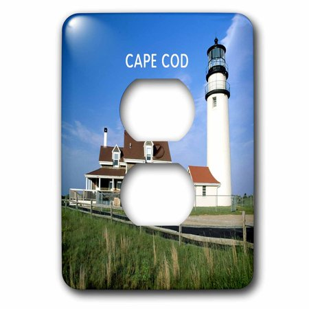 3dRose Lighthouse on Cape Cod in Massachusetts - 2 Plug Outlet Cover (lsp_80839_6) (Cape Cod Outlets)