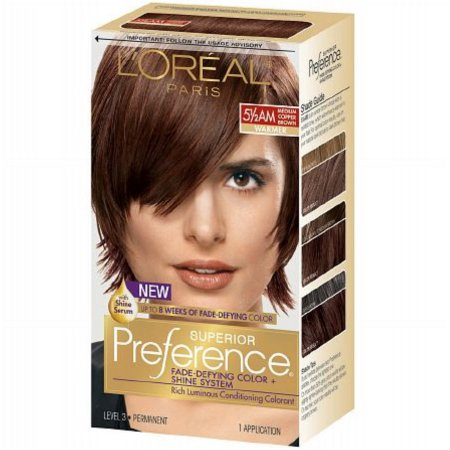 L'Oreal Paris Superior Preference Permanent Hair Color, Medium Amber Copper Brown 5 1/2 AM 1.0 ea(pack of 6)
