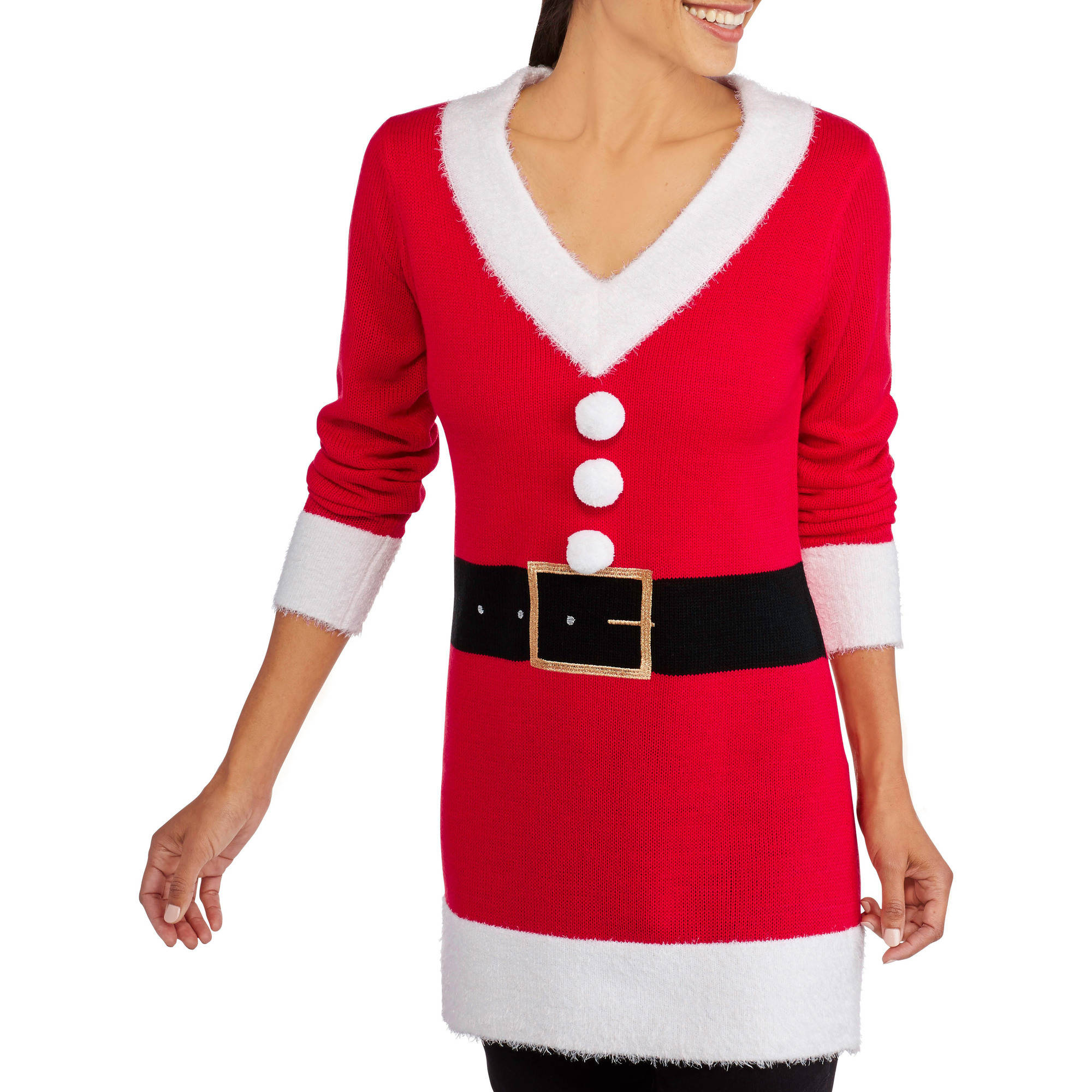 Holiday Time Women's Christmas Sweater Tunic - Walmart.com