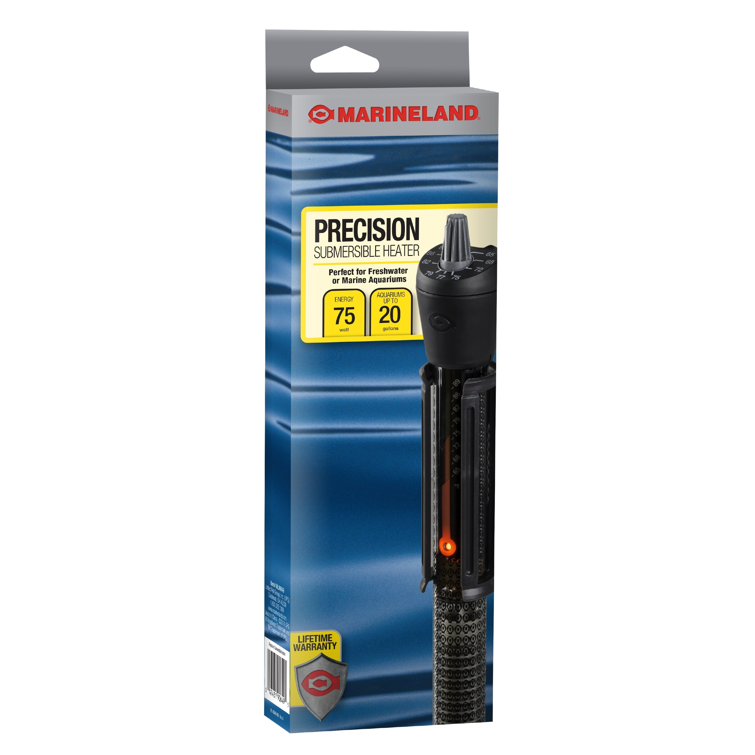 Marineland Precision Aquarium Heater, Up to 20 Gallons, 75-Watt