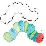 Hygloss Big Cuts Caterpillar Shapes, White, 1 Pack (Quantity)