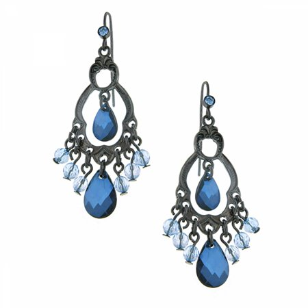 1928 Jewelry Harvest Blueberry Hues Chandelier Earrings