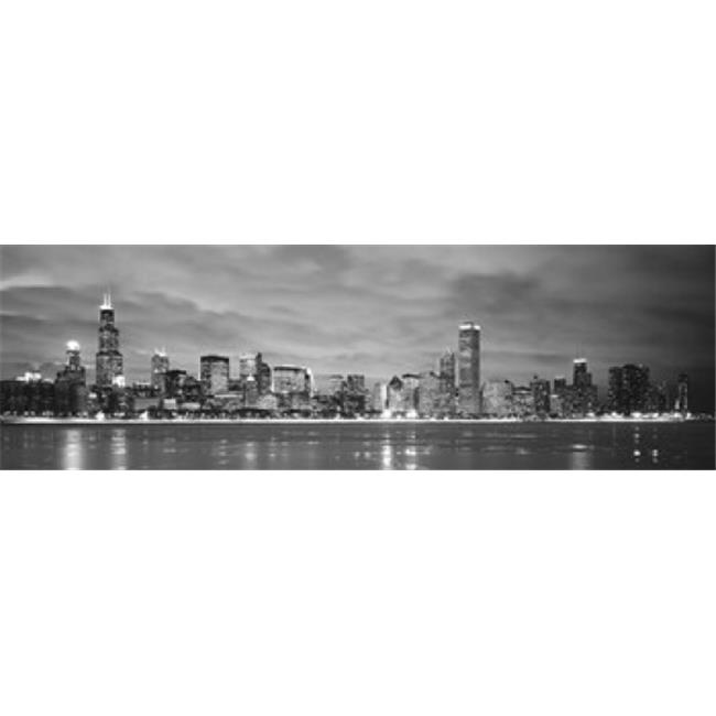 Panoramic Images PPI79447L Buildings at the waterfront  Chicago  Illinois  USA Poster Print by Panoramic Images - 36 x 12