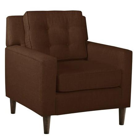 Skyline Fabric Club Arm Chair In Espresso