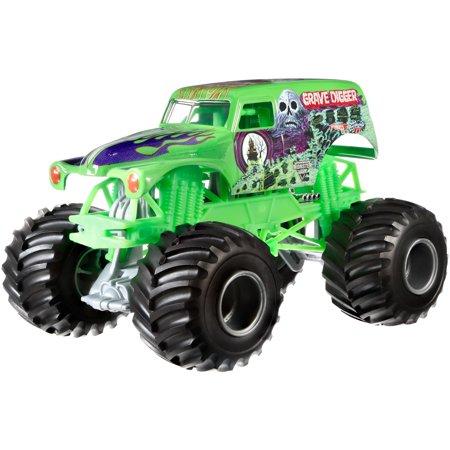 Hot Wheels Monster Jam Grave Digger Vehicle  Green