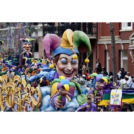 LAMINATED POSTER Festival Carnival New Orleans Mardi Gras Poster Print 24 x 36 (Halloween Music Festival New Orleans)