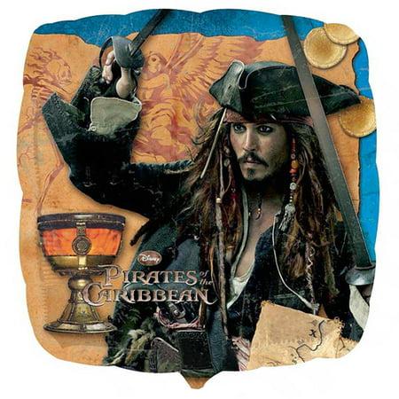 Jack Sparrow On Stranger Tides (Pirates of the Caribbean 'On Stranger Tides' Foil Mylar Balloon)