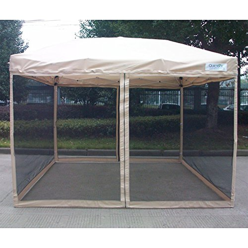 Quictent Pop Up Canopy Gazebo Screen House Multisize & Color 10' x 10'