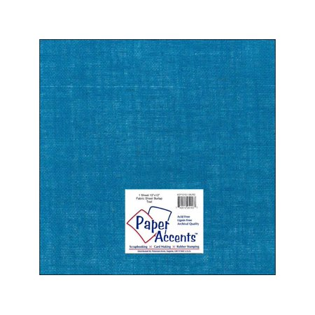 ADP1212-1 BUR2 FABRIC SHEET 12X12 BURLAP TEAL 1PC - image 1 de 1