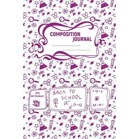 Composition Journal: A 6x9 Inch Matte Softcover Paperback Notebook Journal With 120 Blank Lined Pages - College Ruled -Test Tubes, Beakers, (Test Glasses Online)