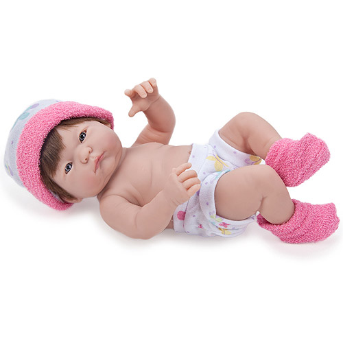 Berenguer Boutique Mini La Newborn with Hair, Dark Pink Outfit