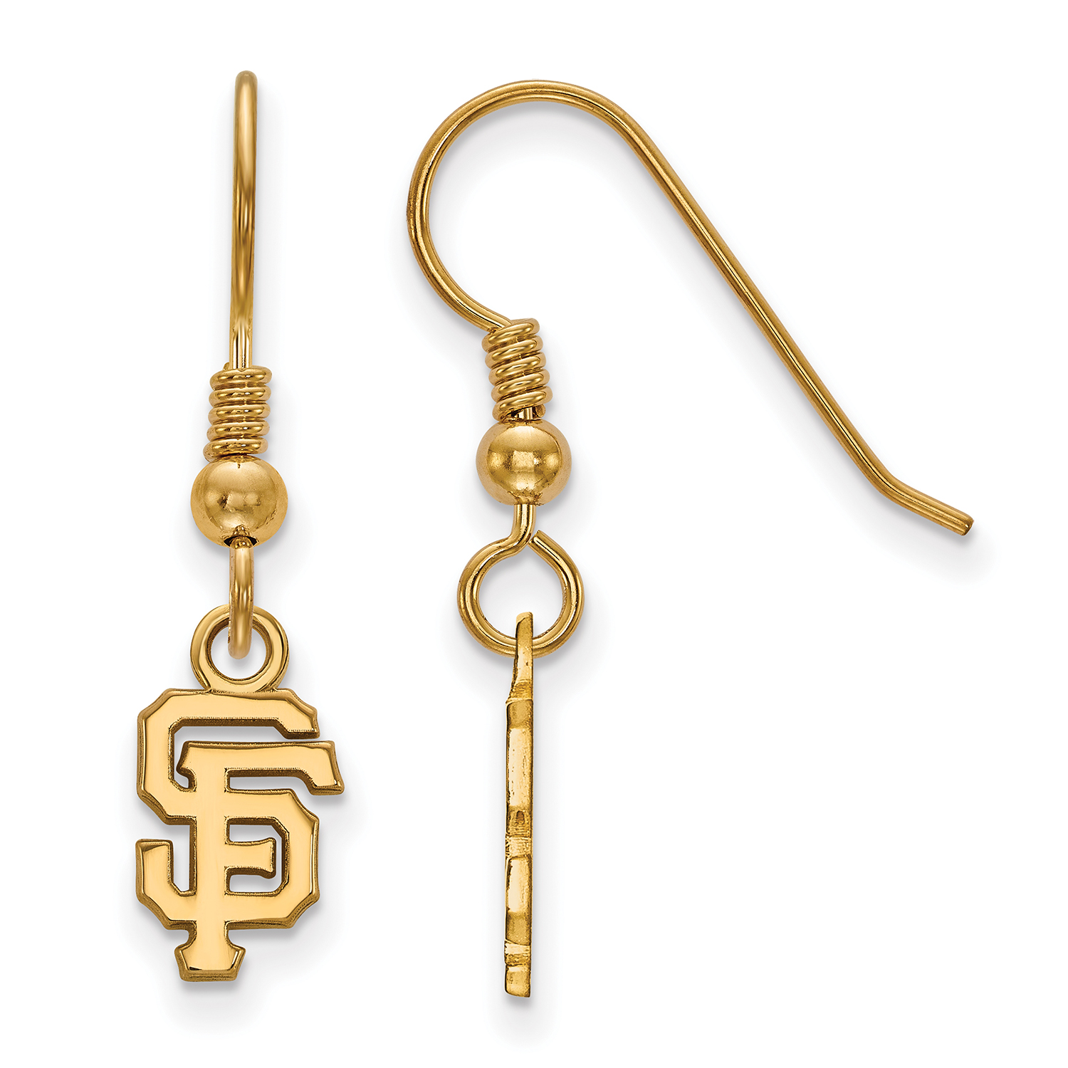 San Francisco Giants Women's Gold-Plated Sterling Silver Extra-Small Dangle Earrings - No Size
