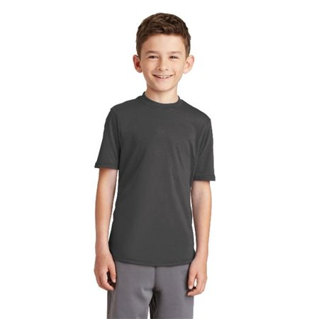 PC381Y Youth Performance Blend Tee, Charcoal - Extra Small