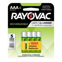 Rayovac Recharge NiMh, AAA Batteries, 4 Count