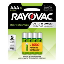 Batteries: Rayovac Recharge