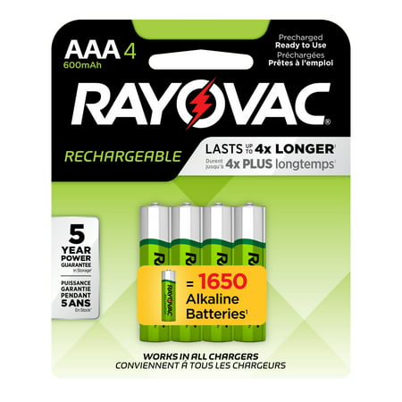 Rayovac Recharge NiMh, AAA Batteries, 4 Count