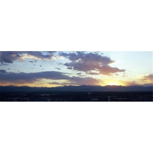 Images panoramiques PPI121449L ville - la copie d'affiche de Denver Colorado USA lever du soleil par images panoramiques - 36 x 12 - image 1 de 1