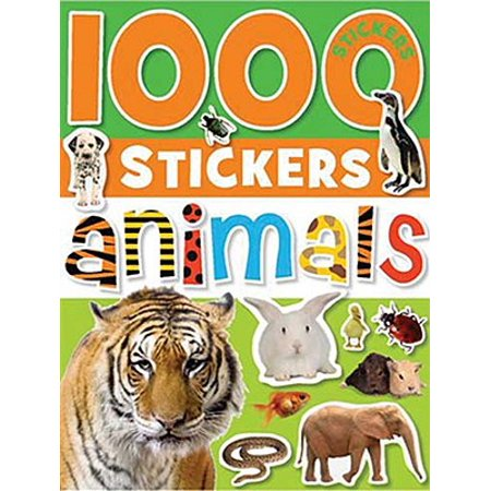 1000 Stickers: Animals - Adult Sticker Book