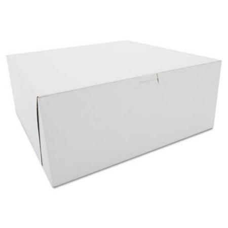 SCT Tuck-Top Bakery Boxes, Paperboard, White, 12 x 12 x 5