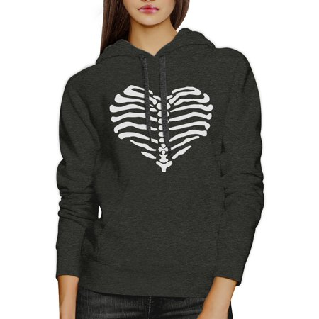 Skeleton Heart Unisex Graphic Hoodie Pullover Fleece For Halloween