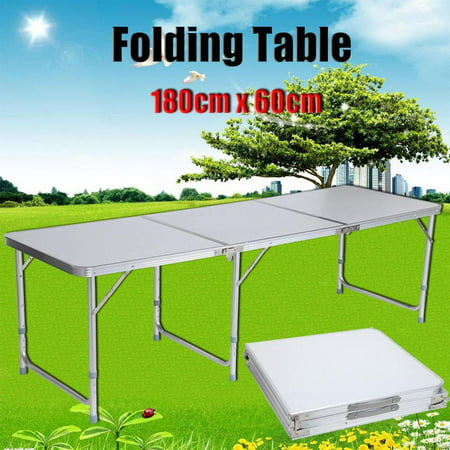 Indoor Camping Party (Ktaxon Folding Table 6' Portable Plastic Indoor Outdoor Picnic Party Camp)