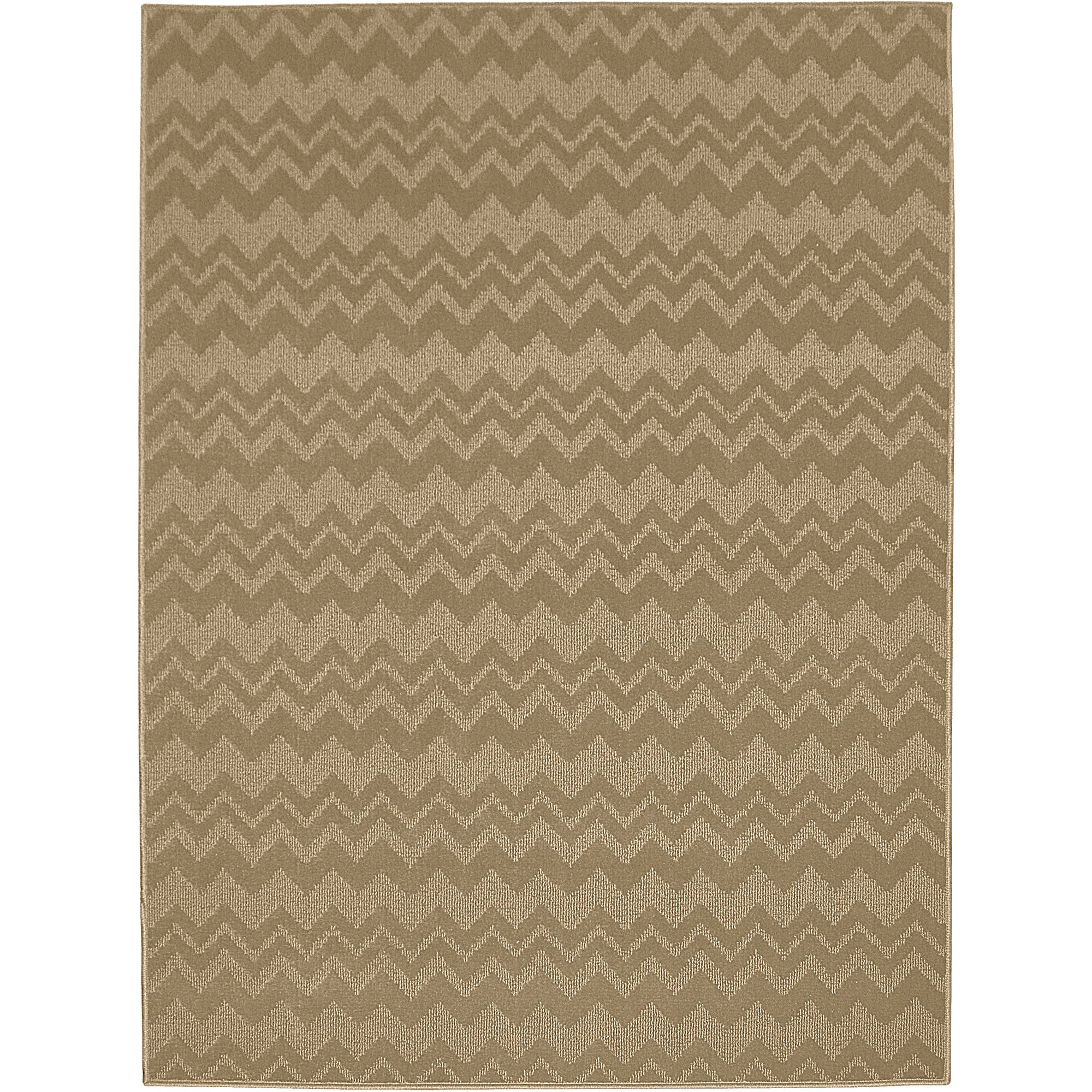 Garland Zig-Zag Patterned Woven Olefin Area Rug
