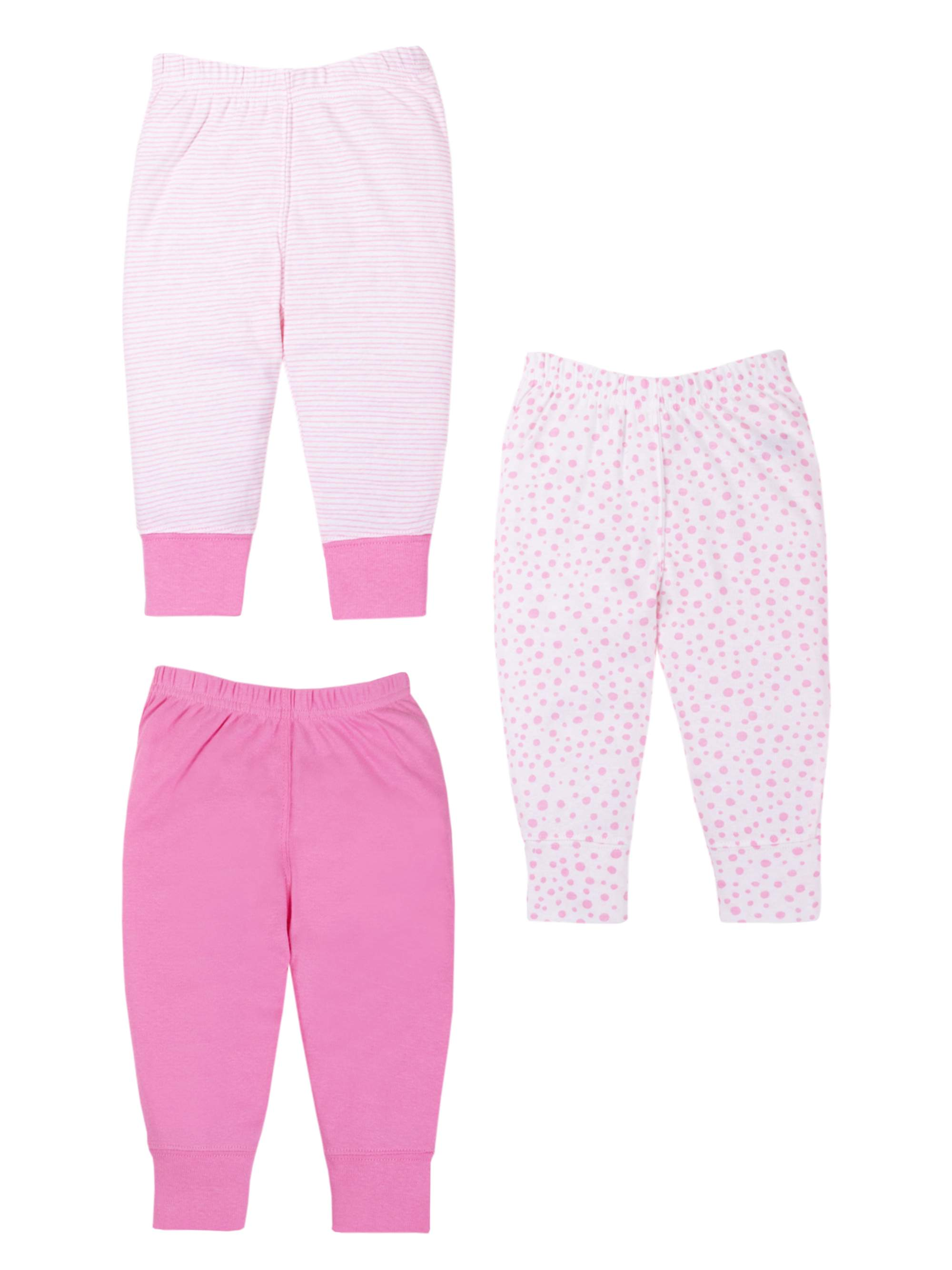 Knits Pants, 3-pack (Baby Girls)