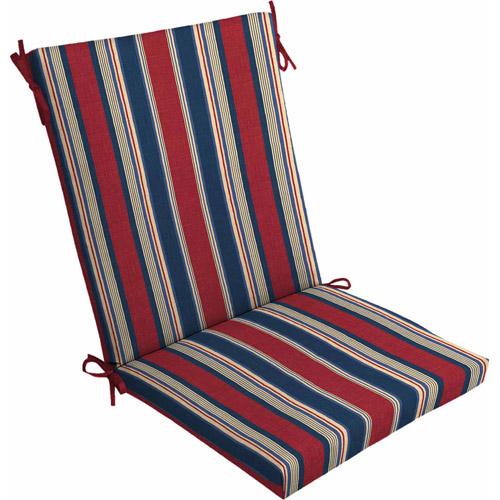 Genial Mainstays Outdoor Dining Chair Cushion, Red White Blue Stripe