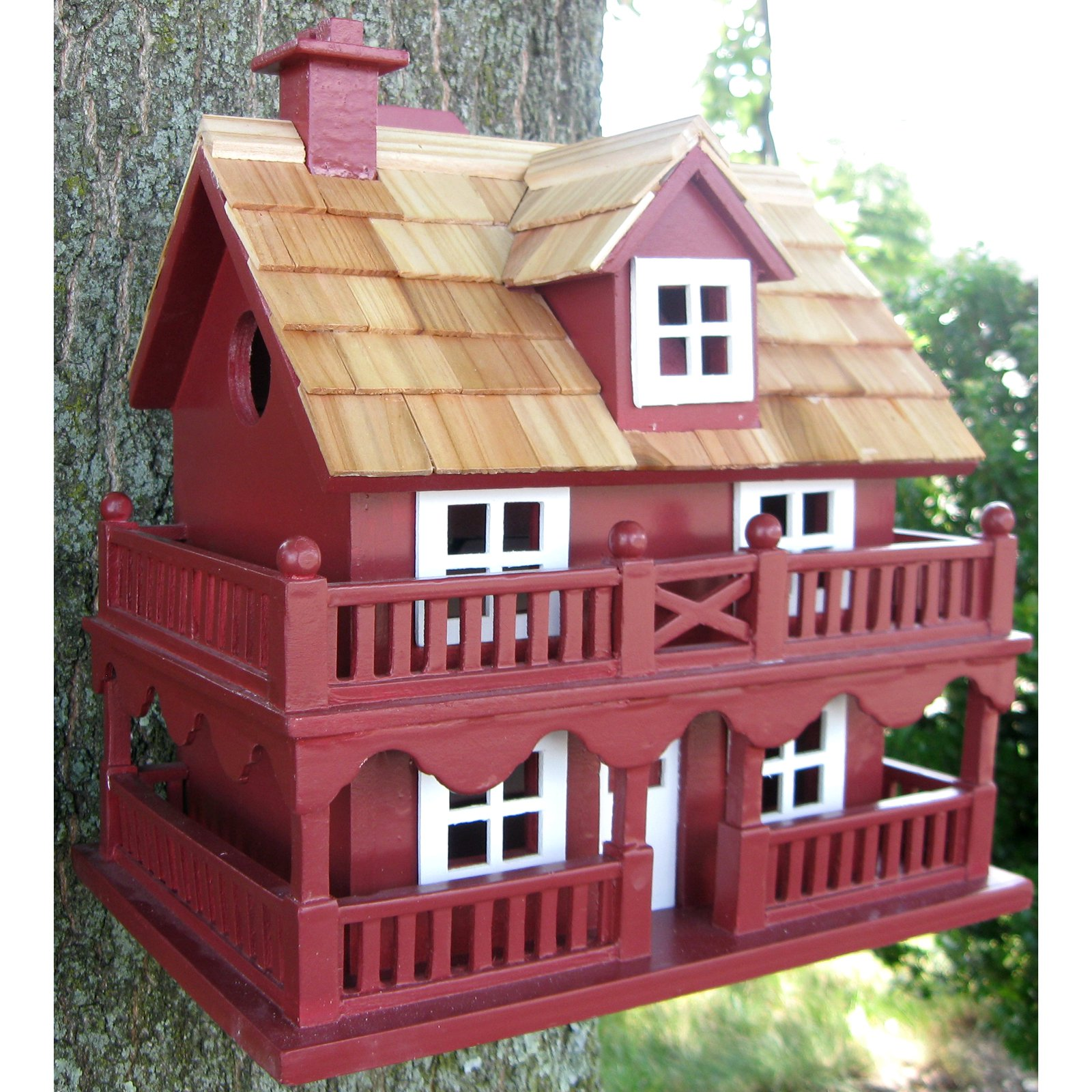 Home Bazaar Novelty Cottage Birdhouse by Home Bazaar Inc.