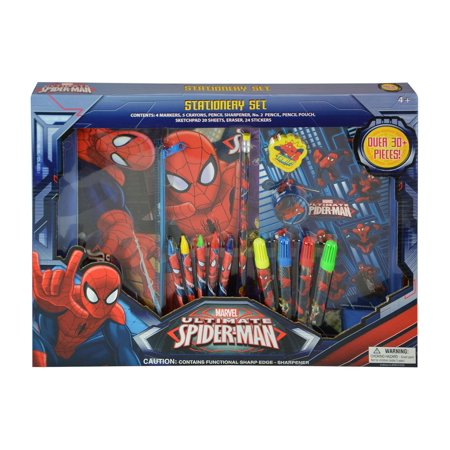 Marvel Marvel Comics Ultimate Spider-Man Stationery Set (30pc Set) Novelty Character Arts and Crafts