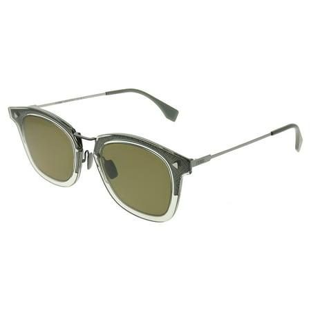 Fendi Men FF FF M0045 3U5 QT Unisex Square Sunglasses