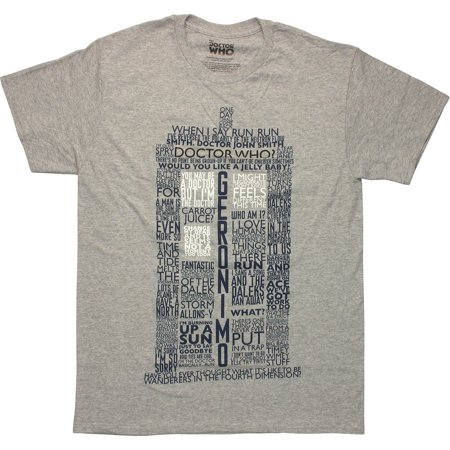 Doctor Who Classic Mens T-Shirt Tardis Quotes