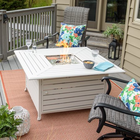Belham Living Juneau 45 in. Fire Table with Free Cover 45 Inch Fire Pit Table