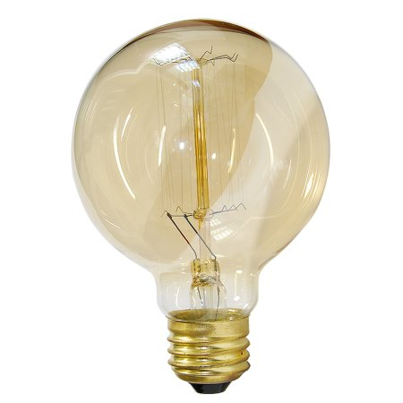 Globe G30 40w Antique Vintage Style 3.3in Diameter Squirrel Cage filament (Globe Style Light Bulb)