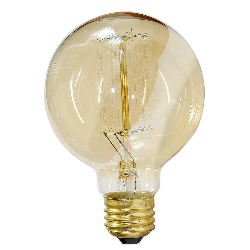 Antique 40w Globe G30 Vintage Style 120v Incandescent Light Bulb