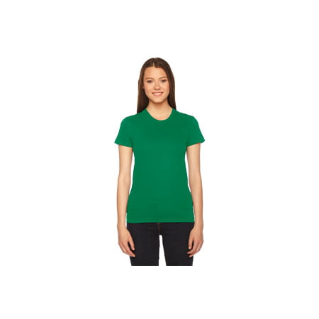 (American Apparel Womens Fine Jersey Short-Sleeve T-Shirt (2102) -KELLY GREEN -M)