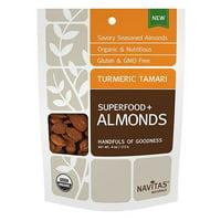 Navitas Organics Turmeric Tamari Almonds 4 oz 231138 2 PACK OC