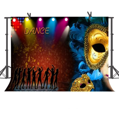 Dancesport Photo (GreenDecor Polyster Background 7x5ft The Dance Party Photography Backdrops Photo Studio Props)