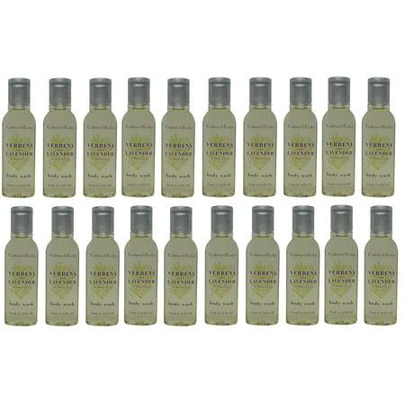 Crabtree & Evelyn Verbena & Lavender Shower Gel Lot of 20 each 0.8oz Bottles. Total of