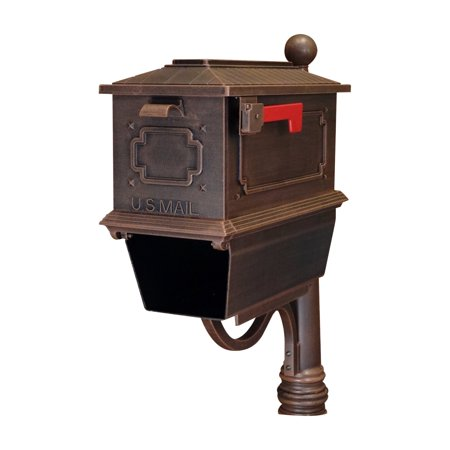 Special Lite Products Kingston Curbside Post Mount Mailbox with Paper Tube