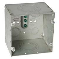 "RACO 260 2-Gang Electrical Box 4-11/16"" x 4-11/16"" x 3-1/4"""