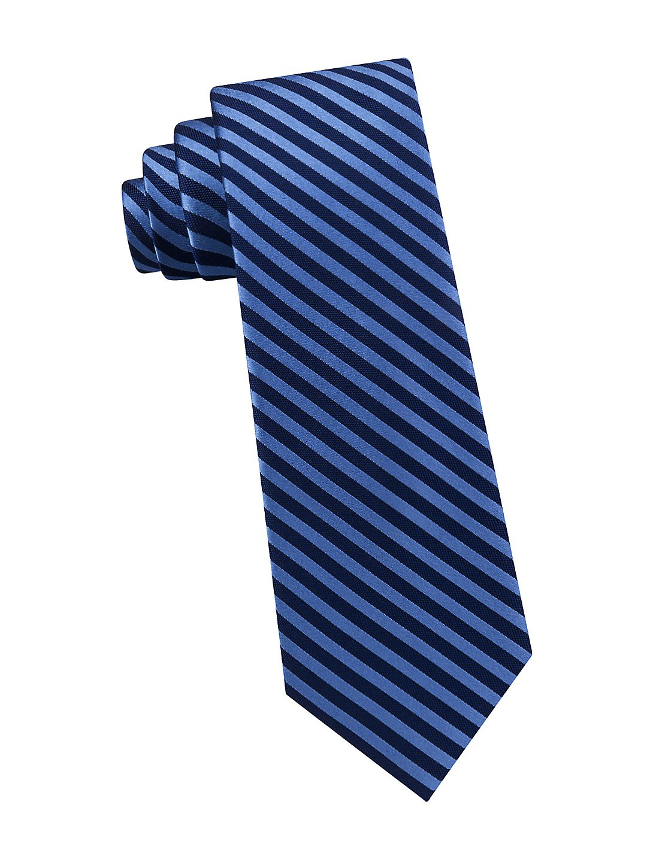 Boy's Satin Jockey Stripe Silk Tie