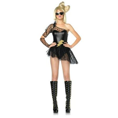 Leg Avenue Lightening Rocker Costume Set 83828 Black - Costumes Direct
