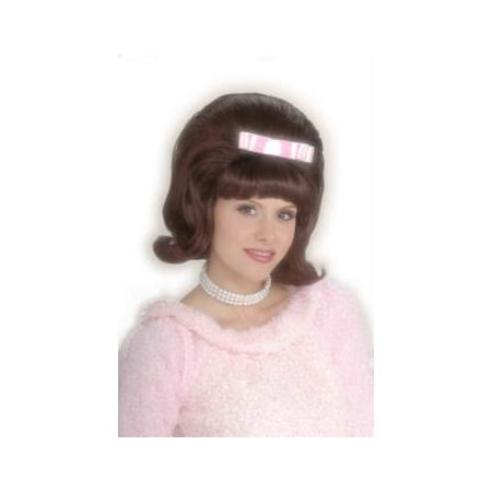 Brown 50s Bouffant Adult Halloween Costume Accessory Wig (Brown Hair Wig Halloween)