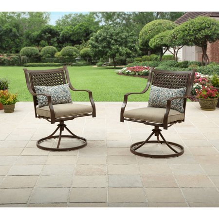 - Better Homes & Gardens Lynnhaven Park Swivel Chairs, Set of 2