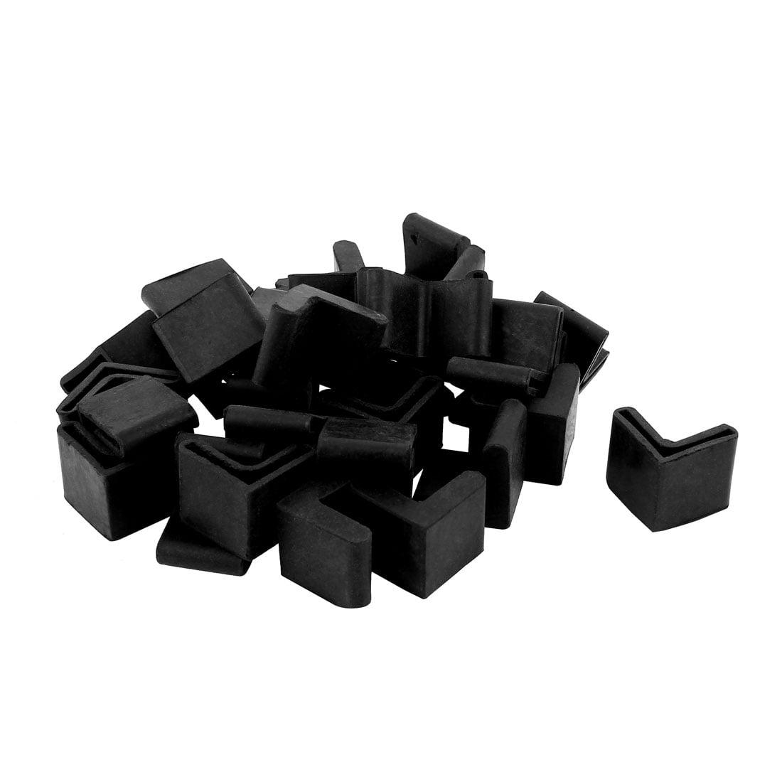 Unique Bargains 30 Pcs Triangle Shaped Furniture Table Corner Cushion Protector 25mmx25mm Black - image 2 de 2